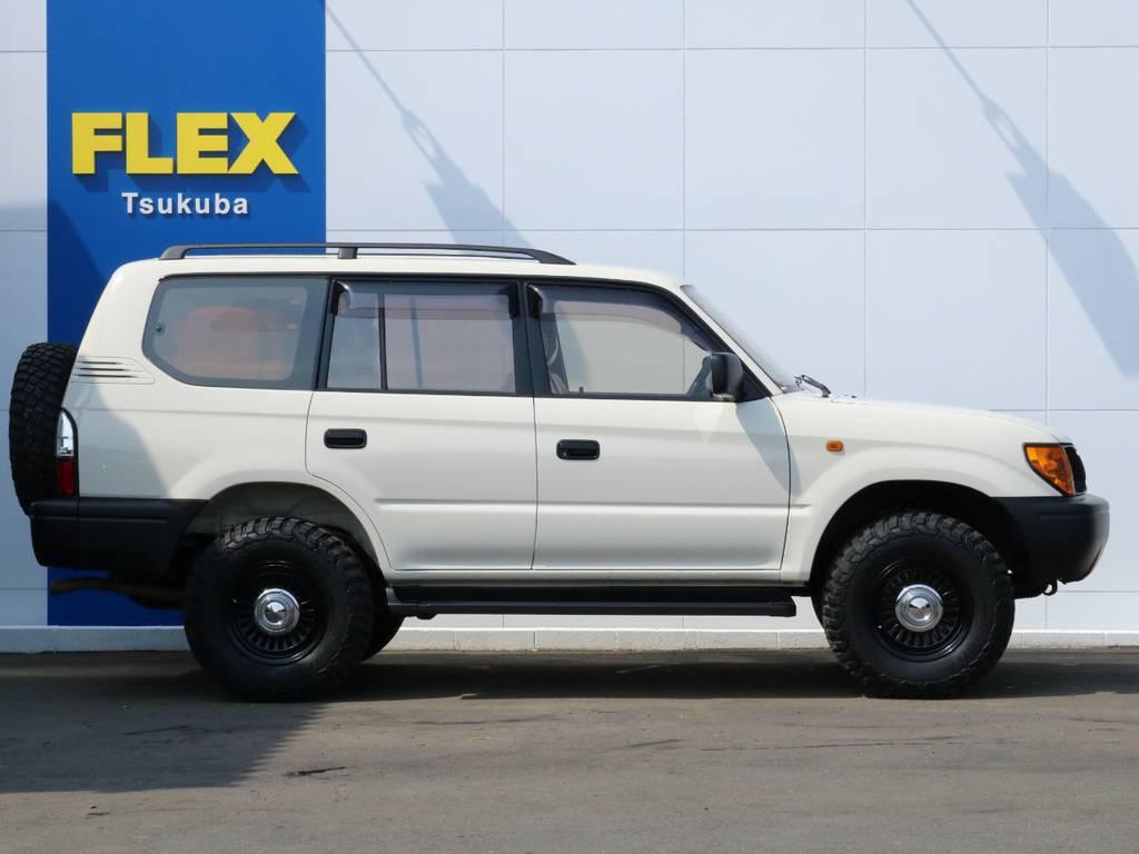 フレックスは全国共有在庫ですので専門知識でお客様にぴったりな1台をご提案致します!つくば店へのご来店お待ちしております! | トヨタ ランドクルーザープラド 2.7 TX リミテッド 4WD ナロー ペッパーホワイト