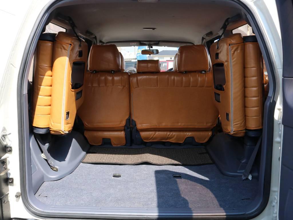 広々したラゲッジルーム!大容量でキャンプ用品なども沢山収容できます! | トヨタ ランドクルーザープラド 2.7 TX リミテッド 4WD ナロー ペッパーホワイト
