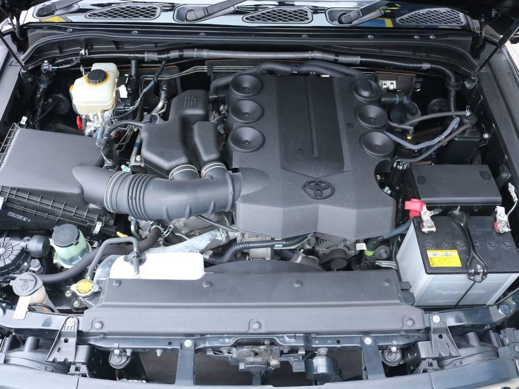 4.0Lのパワフルなガソリンエンジン搭載! | トヨタ FJクルーザー 4.0 ブラックカラーパッケージ 4WD 2UP KM3