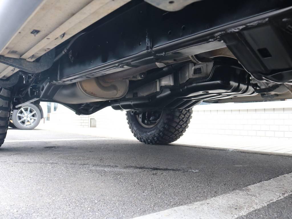ご希望がございましたら下廻り防腐パスター仕上げもできます!お気軽にご相談ください! | トヨタ FJクルーザー 4.0 ブラックカラーパッケージ 4WD 2UP KM3