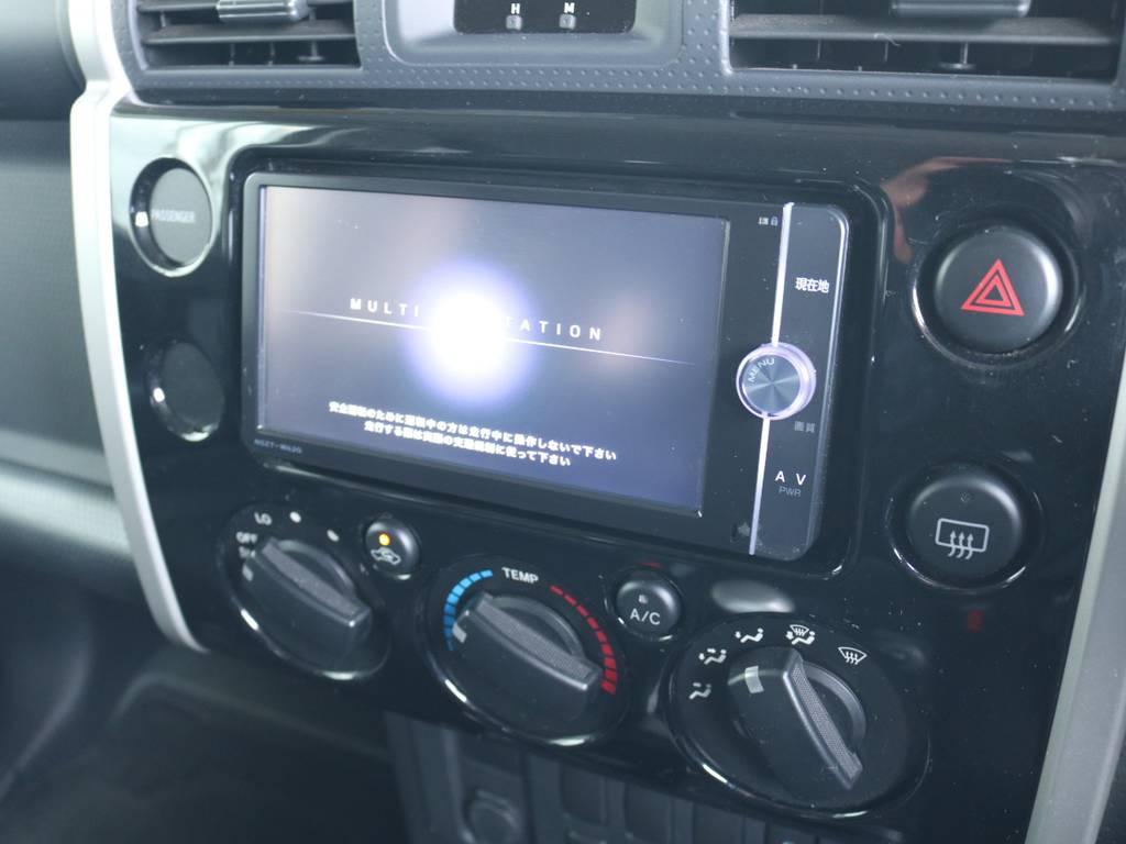 純正フルセグ対応SDナビ装着済み! | トヨタ FJクルーザー 4.0 ブラックカラーパッケージ 4WD 2UP KM3