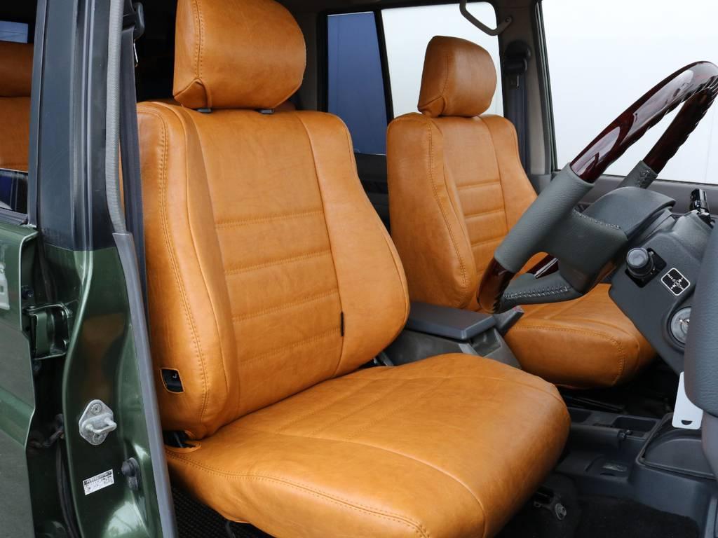 柔らかめなファブリックシート!座り心地もグッド!シートカバーも新品装着済み!