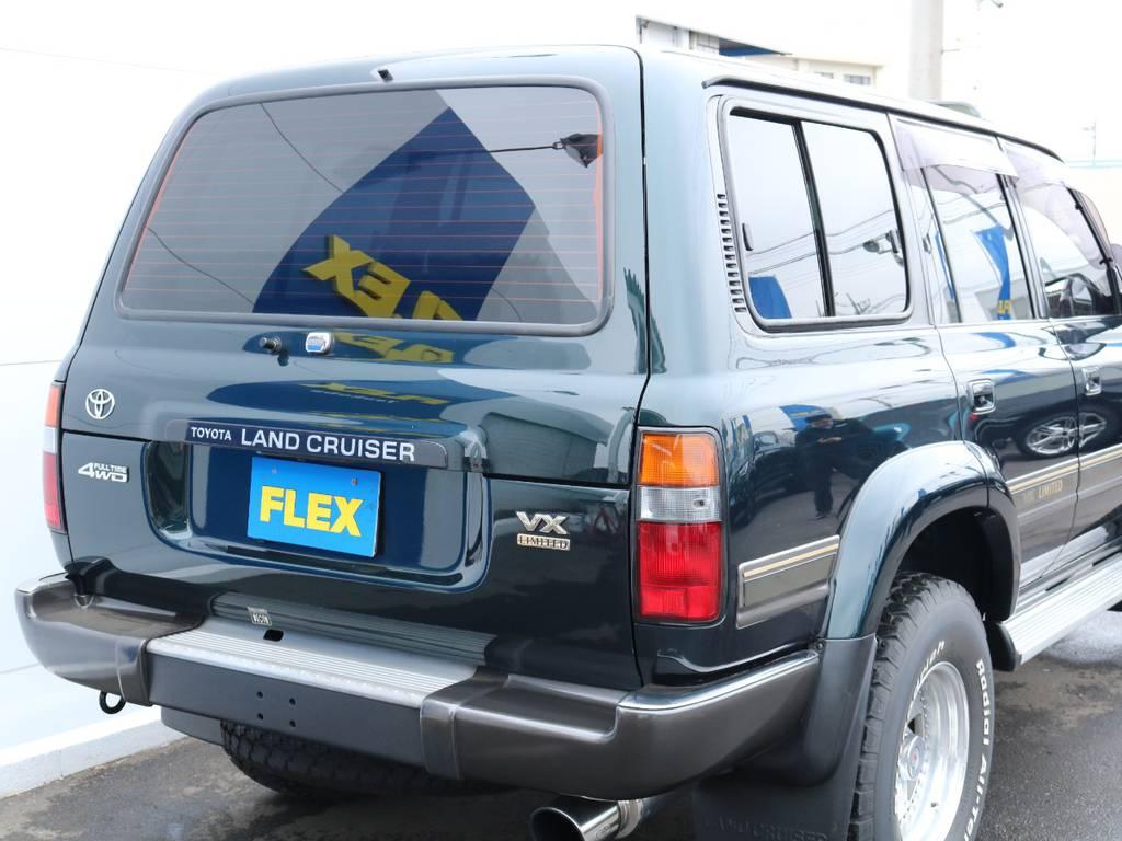 背面レスでリアもすっきり! | トヨタ ランドクルーザー80 4.2 VXリミテッド ディーゼル 4WD ワンオーナー