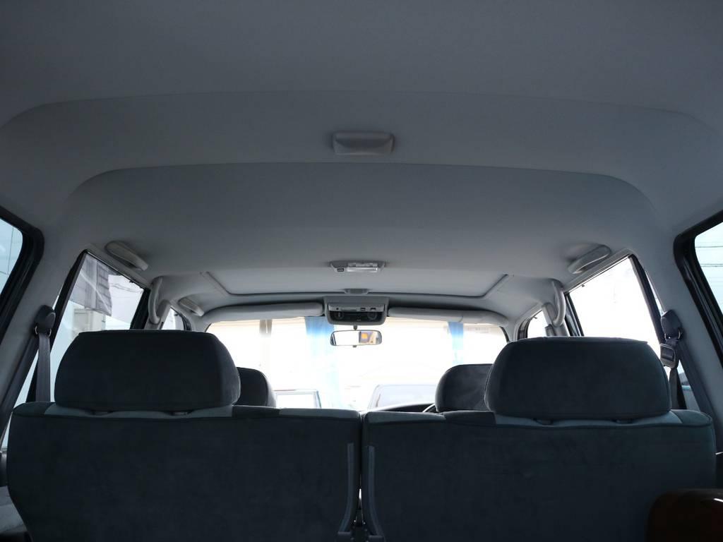 広々した天井!大きなキズやへたりも無く天張りもグッドコンディション! | トヨタ ランドクルーザー80 4.2 VXリミテッド ディーゼル 4WD ワンオーナー