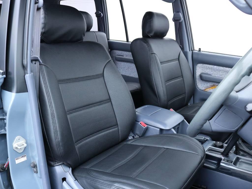 柔らかめなファブリックシート!座り心地もグッド!シートカバーも新品装着済み。