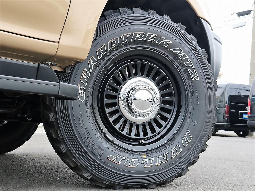 新品DUNLOP GRANDTREKタイヤ&DEANカルフォルニア16インチホイール(ブラック)
