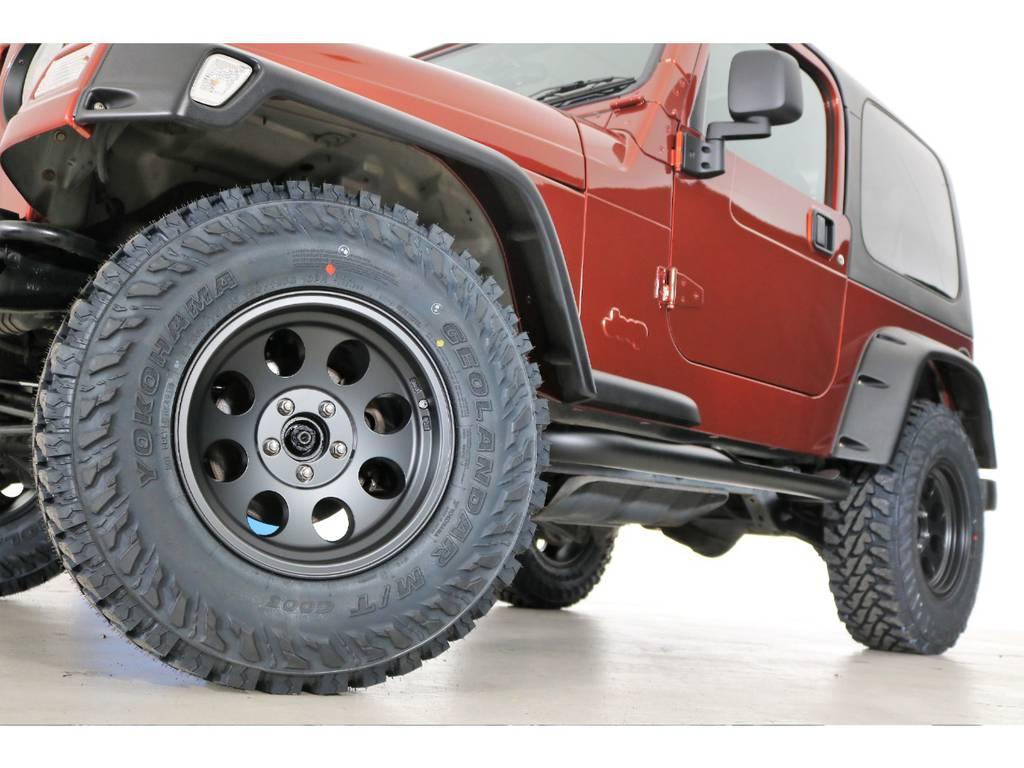 ジムラインマットブラック&ジオランダーMT 265/75/16(新品装着)   ジープ ラングラー サハラ ハードトップ 4WD