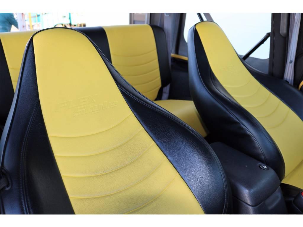 ブラック×イエロー専用シートカバー☆   ジープ ラングラー スポーツ ソフトトップ 4WD
