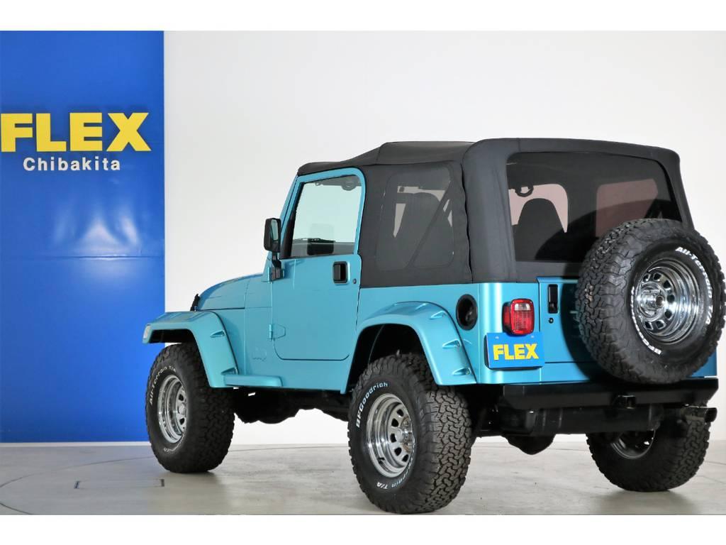 リアナンバー移設済み 背面タイヤ&ホイール(新品装着) | ジープ ラングラー スポーツ ソフトトップ 4WD