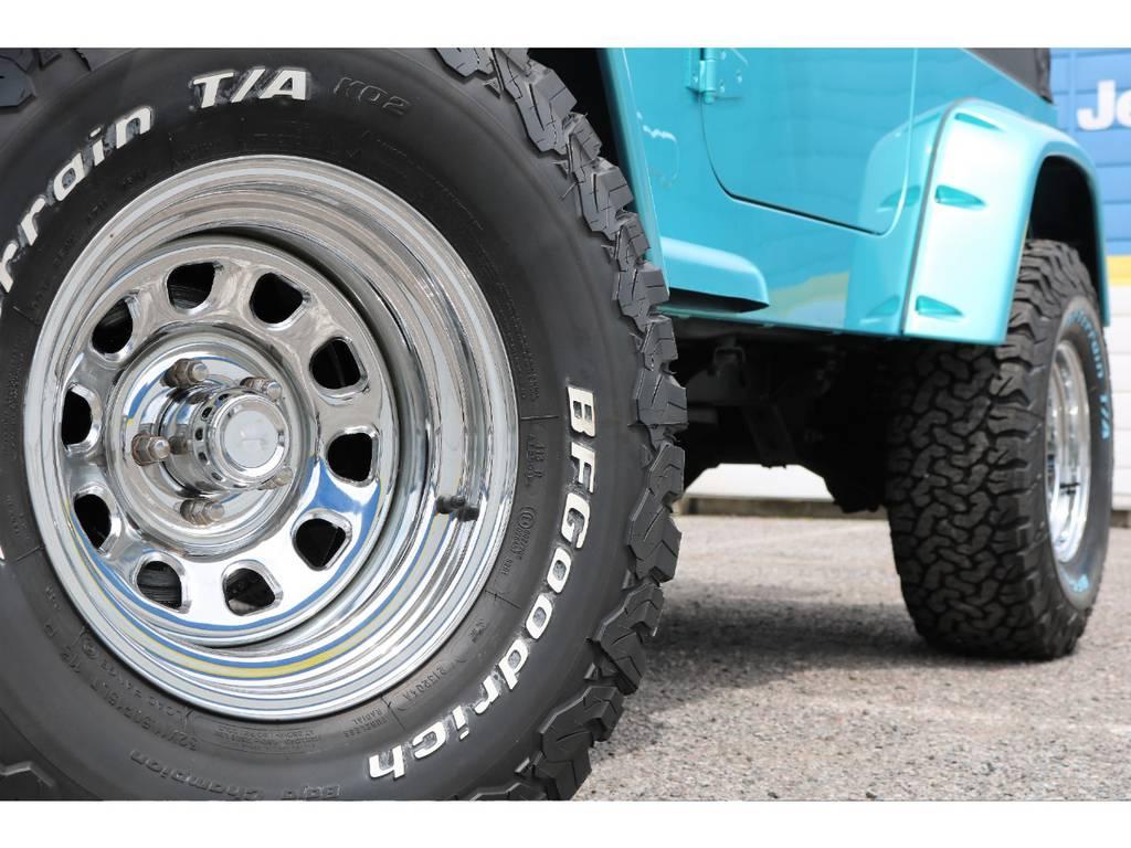クロームデイトナホイール(新品装着) | ジープ ラングラー スポーツ ソフトトップ 4WD