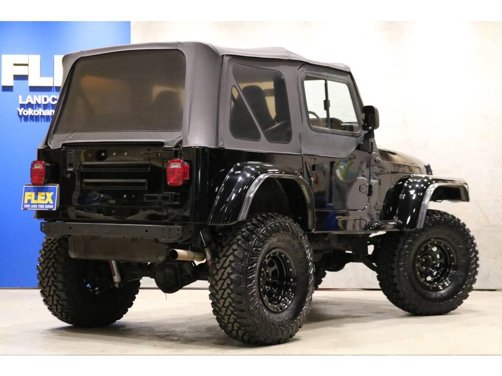 フロントクロールバンパー!USテール&ナンバー移設!ソフトトップ&ハーフドア!スライドガラス! | ジープ ラングラー スポーツ ソフトトップ 4WD