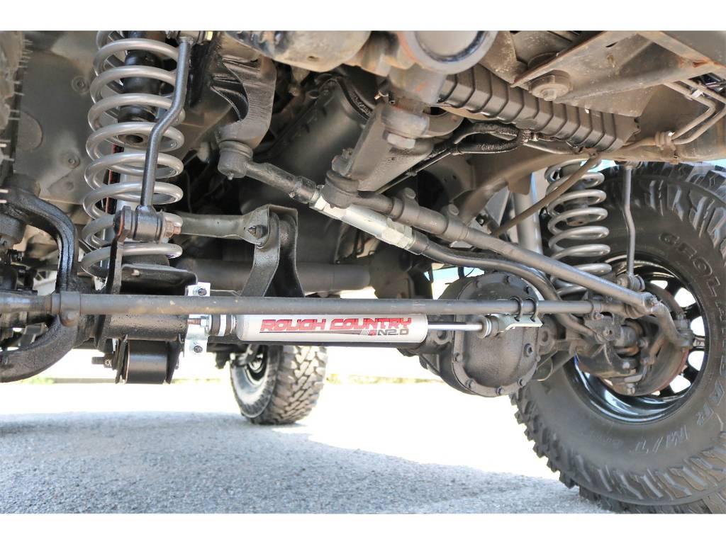Rough country ステアリングダンパー(新品装着) | ジープ ラングラー スポーツ ソフトトップ 4WD