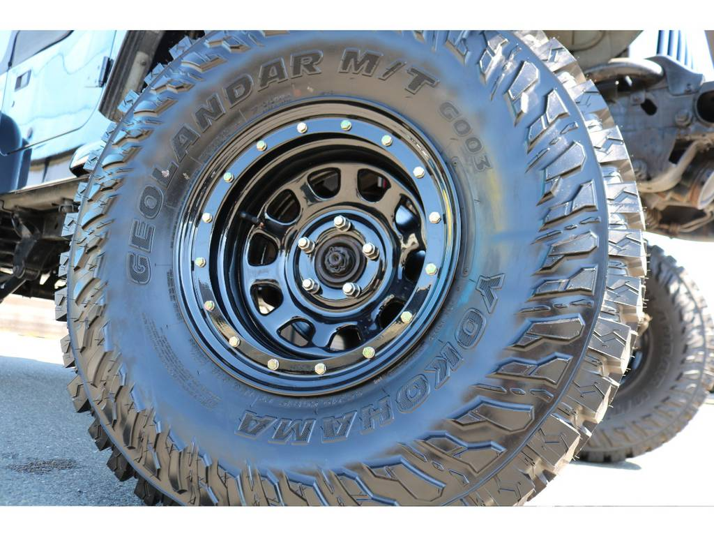 ストリートロック15インチホイールに、ジオランダー35インチMTタイヤ新品装着! | ジープ ラングラー スポーツ ソフトトップ 4WD