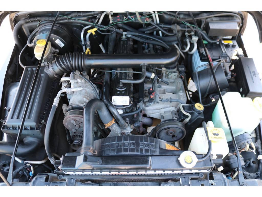 エンジンルームもしっかりとしたままです! | ジープ ラングラー スポーツ ソフトトップ 4WD
