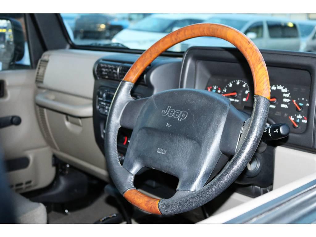希少なウッドコンビハンドル付きです☆ | ジープ ラングラー サハラ ハードトップ 4WD