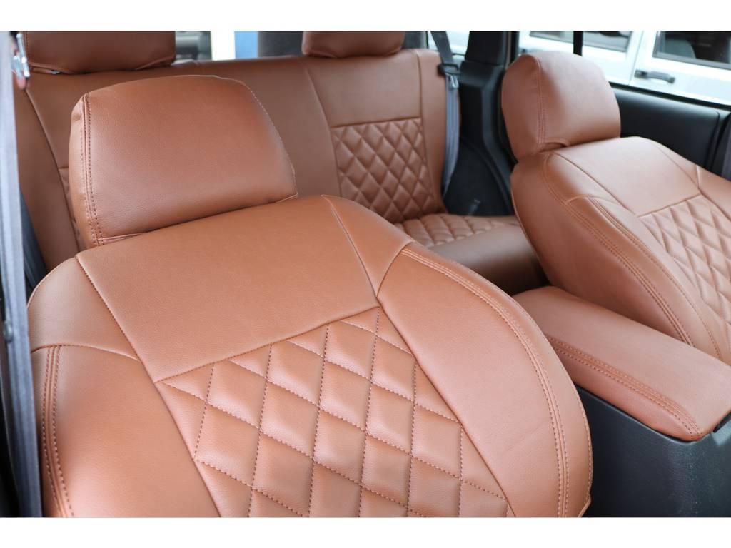 モカブラウンシートカバー(新品装着) | ジープ チェロキー スポーツ 4WD
