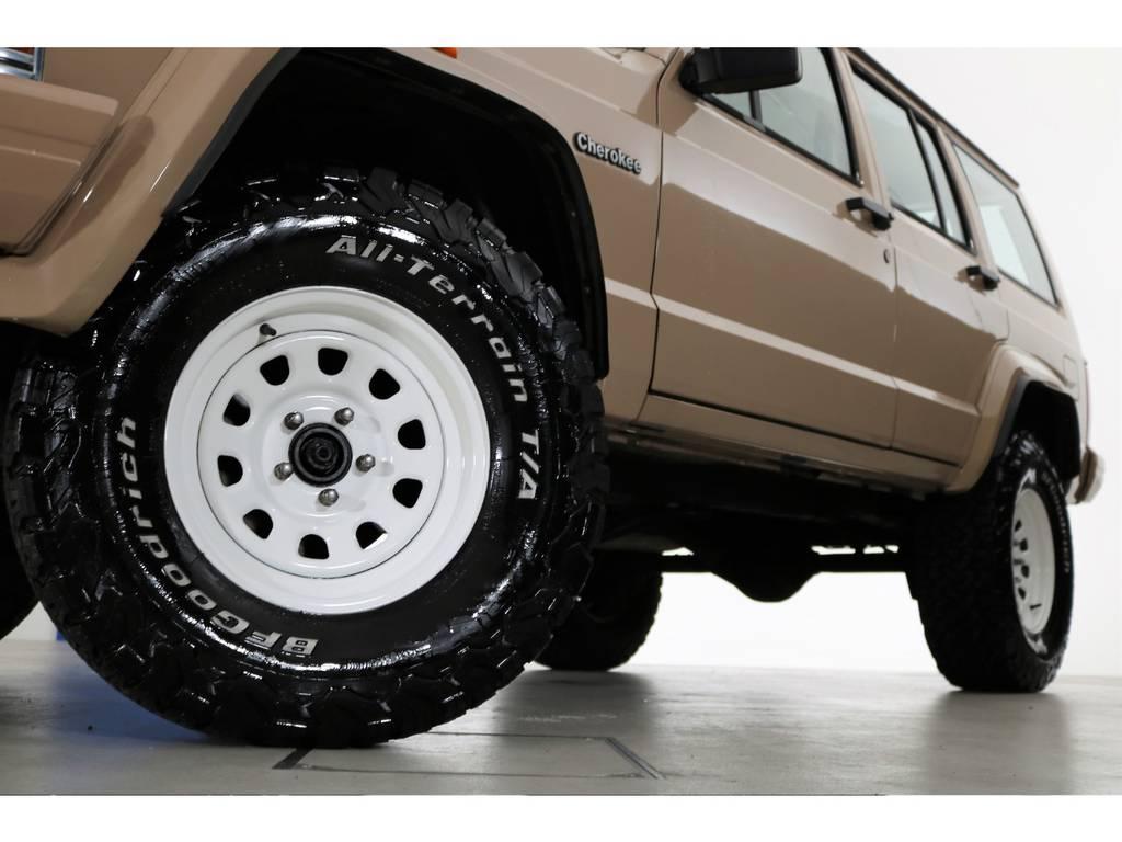 BF Goodrich All-terrain32/11.5/15&ホワイトデイトナホイール☆ | ジープ チェロキー スポーツ 4WD