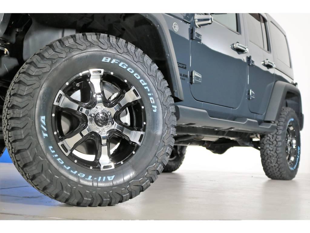BF Goodrich All-terrain285/70/17&MG VAMPAIREホイール(新品装着) | ジープ ラングラー アンリミテッド スポーツ 4WD