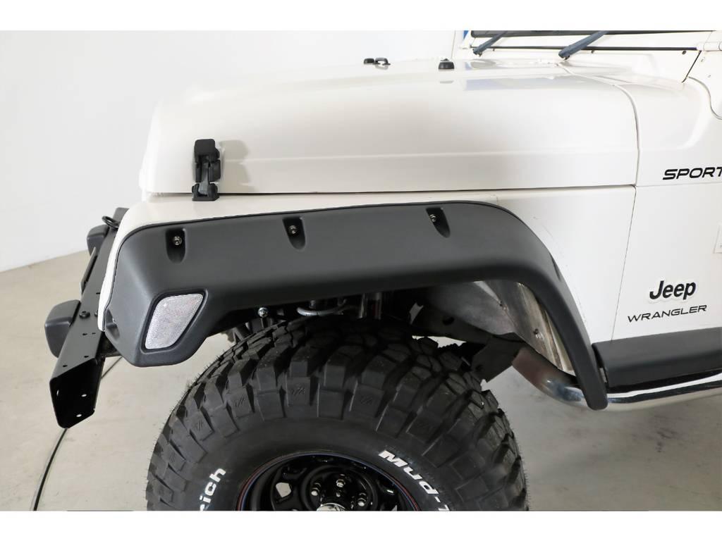 ポケットスタイルオーバーフェンダー(新品装着) | ジープ ラングラー スポーツ ソフトトップ 4WD
