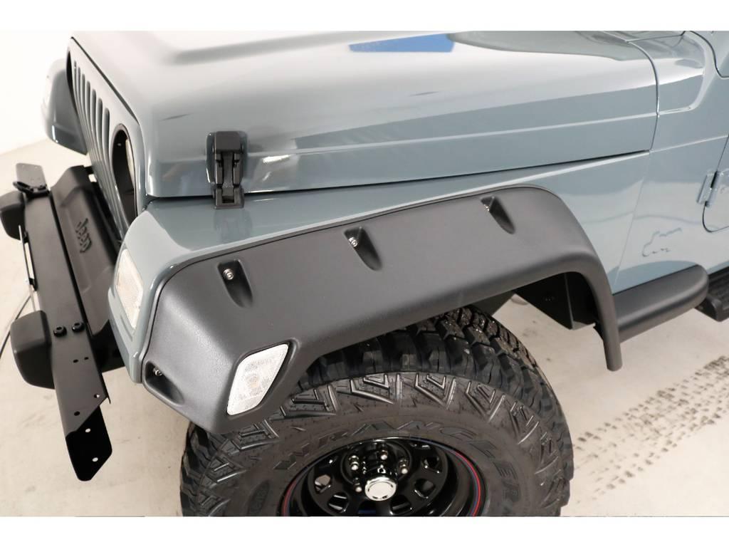 ポケットスタイルオーバーフェンダー(新品装着) | ジープ ラングラー サハラ ハードトップ 4WD アンヴィルNEWペイント