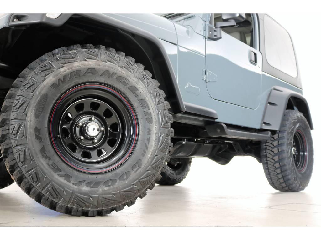 Good year Kevlar MTR 32/11.5/15&ブラックデイトナホイール(新品装着) | ジープ ラングラー サハラ ハードトップ 4WD アンヴィルNEWペイント
