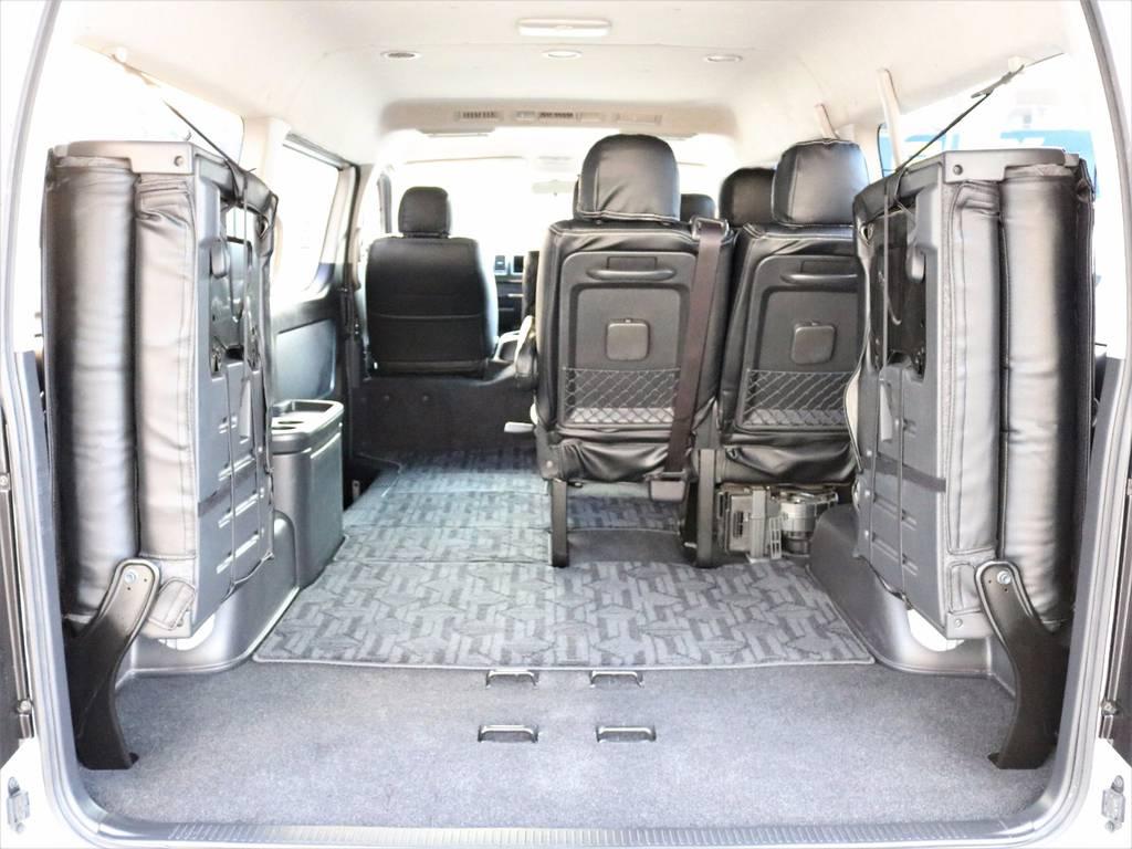 こんなに広々荷物を積むスペースを確保できます! | トヨタ ハイエース 2.7 GL ロング ミドルルーフ 4WD 4型 20inダイナスティ 新品SDナビ