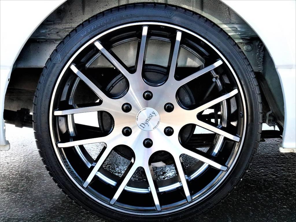 20incダイナスティ! | トヨタ ハイエース 2.7 GL ロング ミドルルーフ 4WD 4型 20inダイナスティ 新品SDナビ