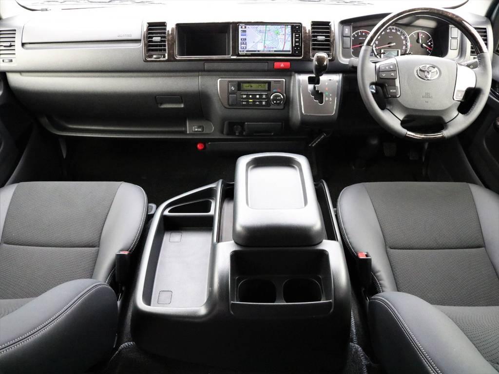 すぐに乗り出し出来る装備が嬉しいカスタム内容! | トヨタ ハイエースバン 2.7 スーパーGL ワイド ロング ミドルルーフ 4WD FLEXオリジナル車中泊カスタム