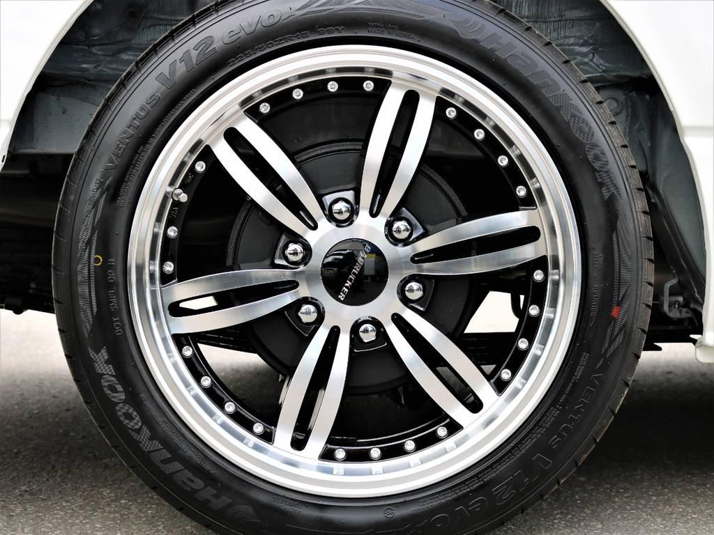18inchバッドラッカーアルミホイール!   トヨタ ハイエース 2.7 GL ロング ミドルルーフ 4WD FLEX Ver1 ツインナビPKG
