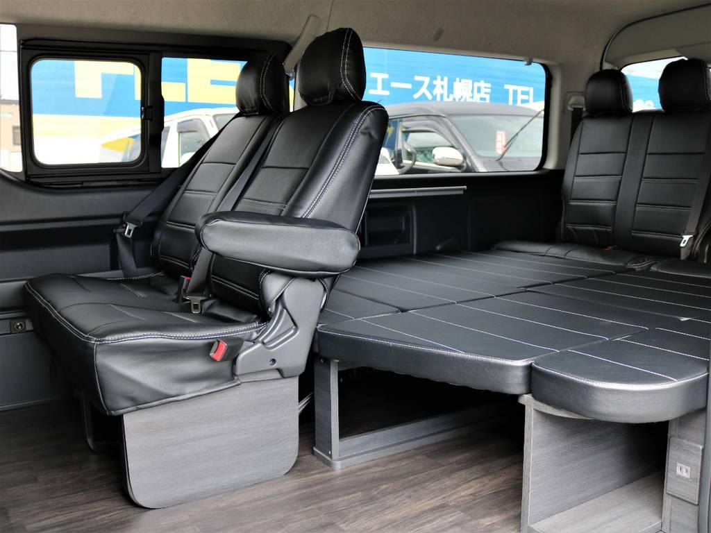 FLEX Ver1内装架装!   トヨタ ハイエース 2.7 GL ロング ミドルルーフ 4WD FLEX Ver1 ツインナビPKG