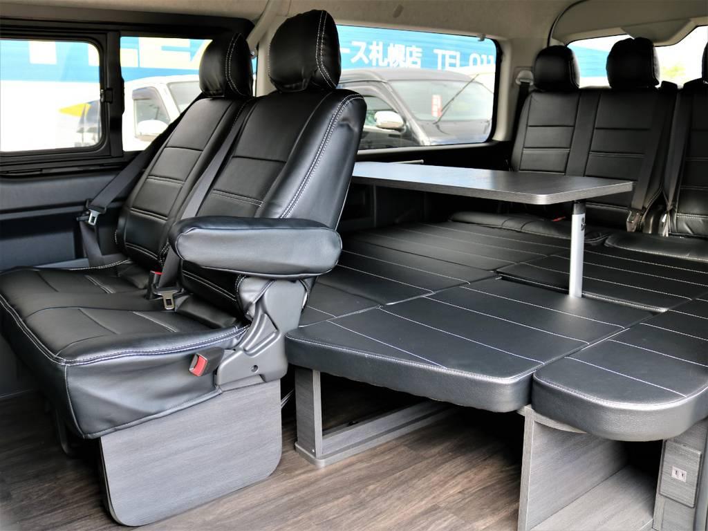 ファミリーに特にオススメの内装架装です!   トヨタ ハイエース 2.7 GL ロング ミドルルーフ 4WD FLEX Ver1 ツインナビPKG
