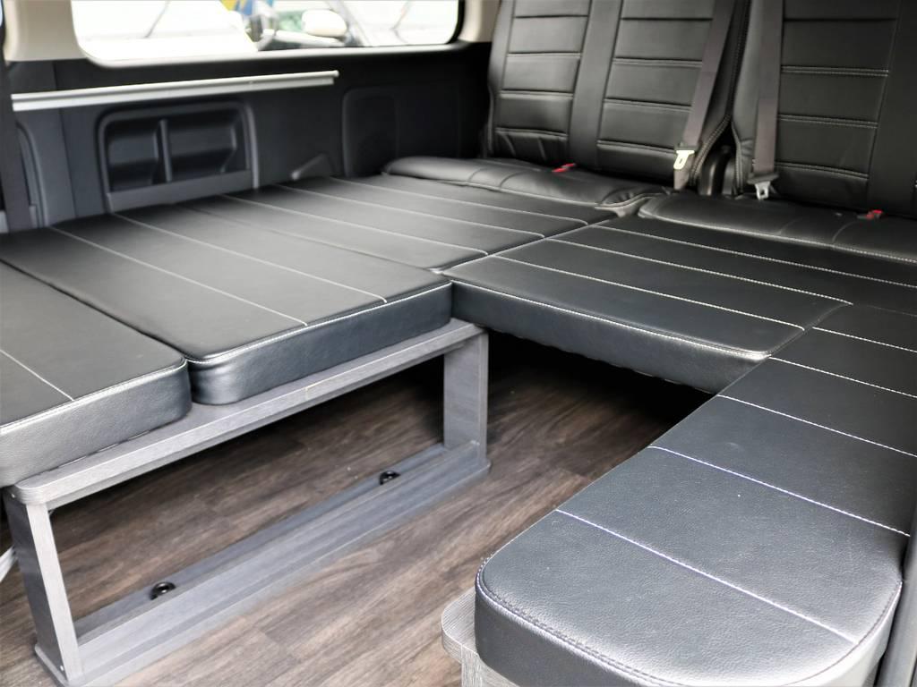 ベッドマットの取り外しは誰にでも簡単に出来ますよ!   トヨタ ハイエース 2.7 GL ロング ミドルルーフ 4WD FLEX Ver1 ツインナビPKG