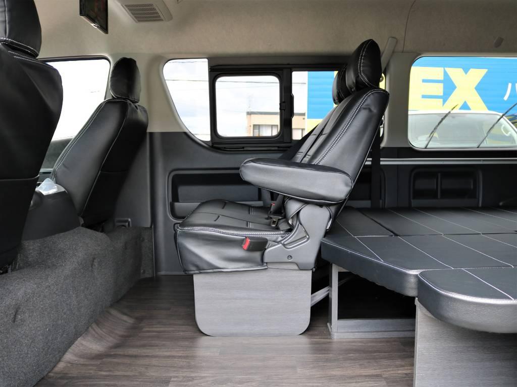 スライドドアを開けたところのスペースが広く使いやすいですよ!   トヨタ ハイエース 2.7 GL ロング ミドルルーフ 4WD FLEX Ver1 ツインナビPKG