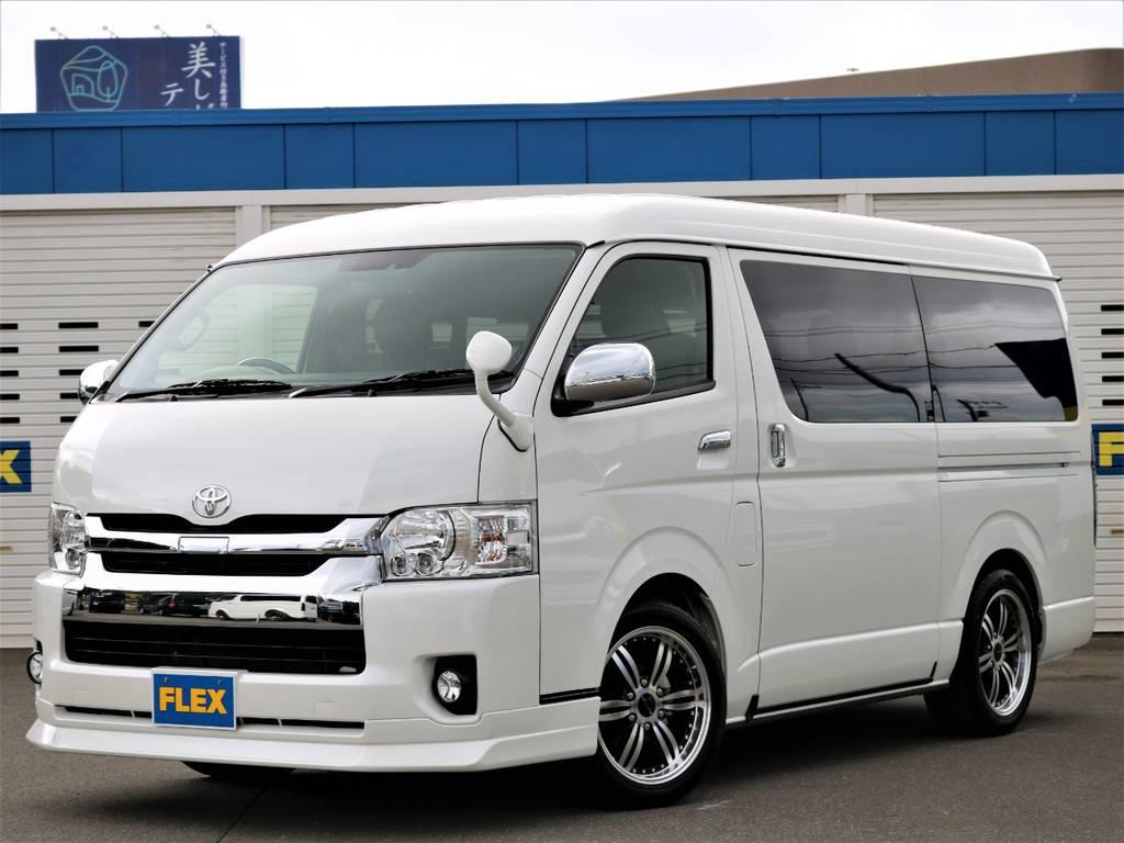 お見積りや追加のお写真などお気軽に011-889-1166までご連絡下さい!   トヨタ ハイエース 2.7 GL ロング ミドルルーフ 4WD FLEX Ver1 ツインナビPKG