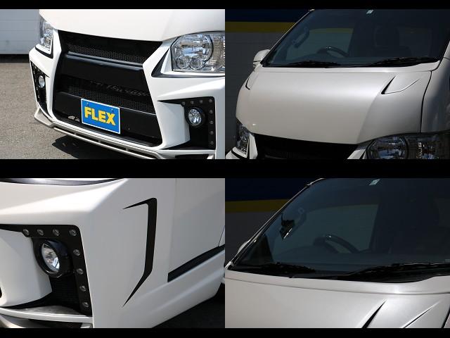 ブレスフルエアロで塗り分けもしっかり施工されています! | トヨタ ハイエースバン 3.0 スーパーGL  ダークプライム ロングボディ ディーゼルターボ