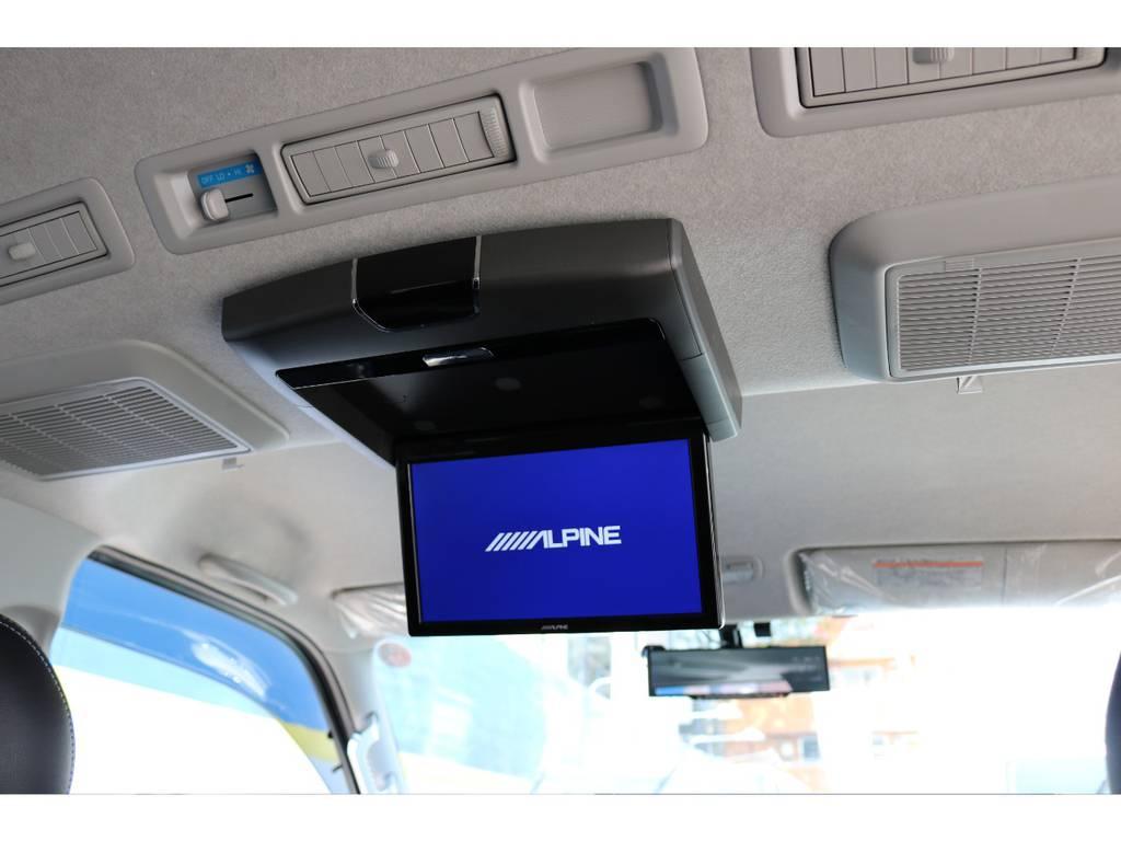 アルパインリアフリップダウンモニター | トヨタ ハイエースバン 3.0 スーパーGL  ダークプライム ロングボディ ディーゼルターボ