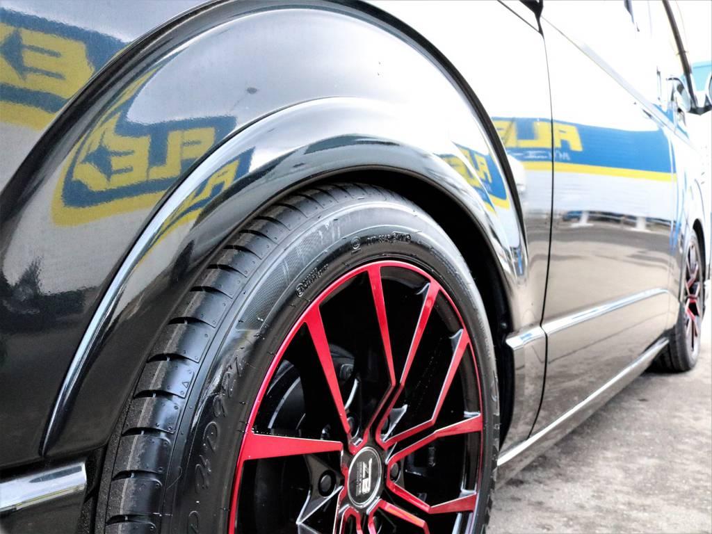 ギブソン オーバーフェンダー!   トヨタ レジアスエース 3.0 スーパーGL ロングボディ ディーゼルターボ 4WD TSDフルエアロ新品ゼロブレイクフォース