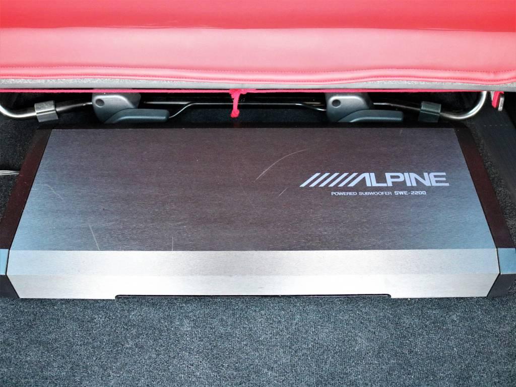 アルパイン サブウーファー!   トヨタ レジアスエース 3.0 スーパーGL ロングボディ ディーゼルターボ 4WD TSDフルエアロ新品ゼロブレイクフォース