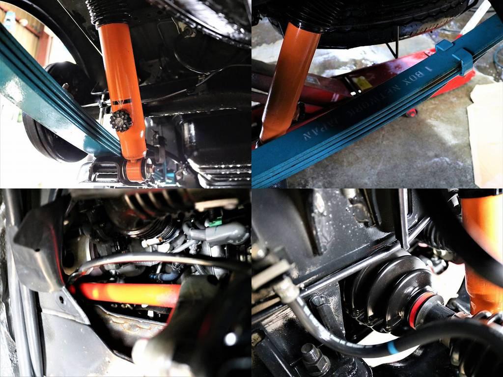コンフォートリーフ!ユーアイビークル ショックアブソーバー !強化トーションバー!強化ドライブシャフトブーツ!   トヨタ レジアスエース 3.0 スーパーGL ロングボディ ディーゼルターボ 4WD TSDフルエアロ新品ゼロブレイクフォース