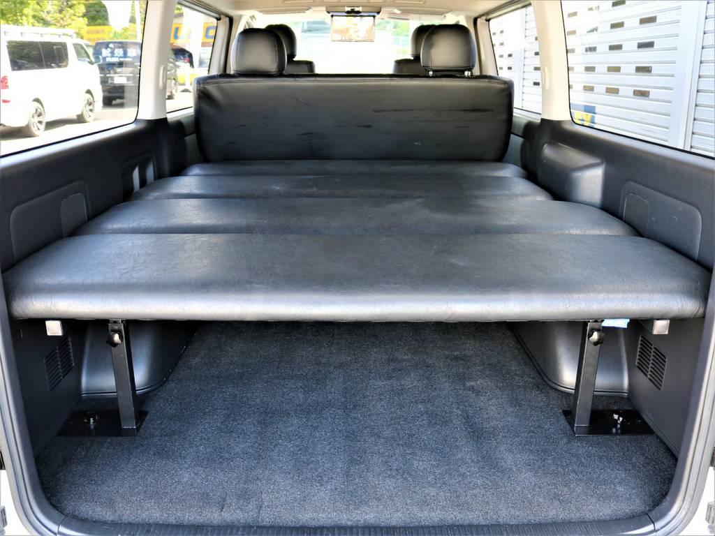 FLEXベッドキット付きです! | トヨタ レジアスエース 3.0 スーパーGL ロングボディ ディーゼルターボ 4WD 16inバルベロ ベッド フリップダウン