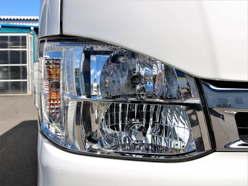 メーカーオプションディスチャージヘッドライト! | トヨタ レジアスエース 3.0 スーパーGL ロングボディ ディーゼルターボ 4WD 16inバルベロ ベッド フリップダウン