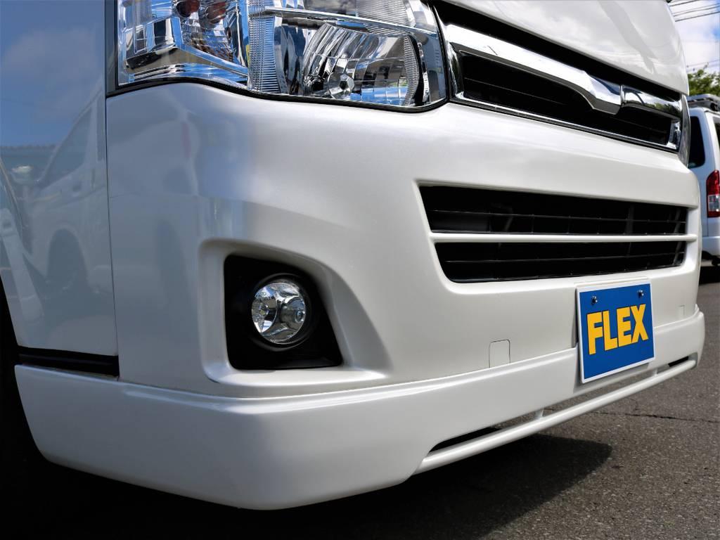 415コブラ フロントリップスポイラー! | トヨタ レジアスエース 3.0 スーパーGL ロングボディ ディーゼルターボ 4WD 16inバルベロ ベッド フリップダウン