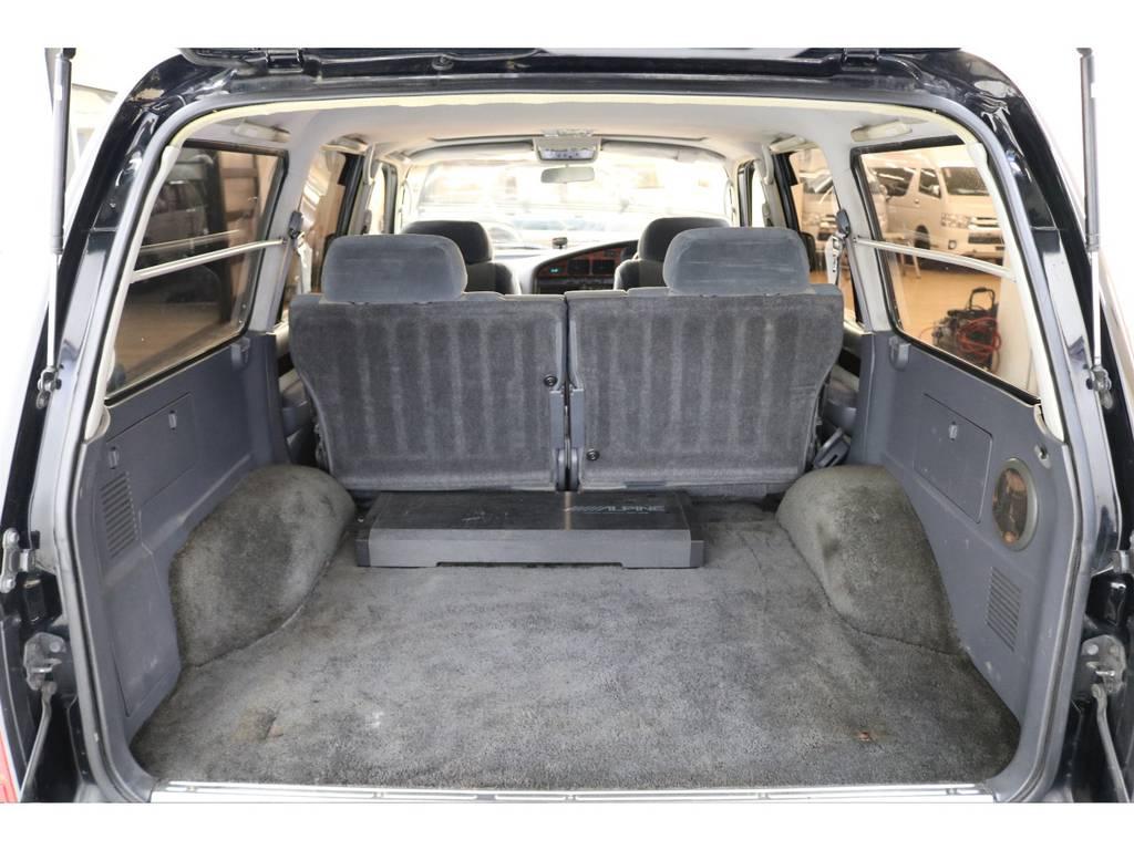 ラゲッジルームは広々と荷物が沢山積めます♪ | トヨタ ランドクルーザー80 4.2 VXリミテッド ディーゼルターボ 4WD