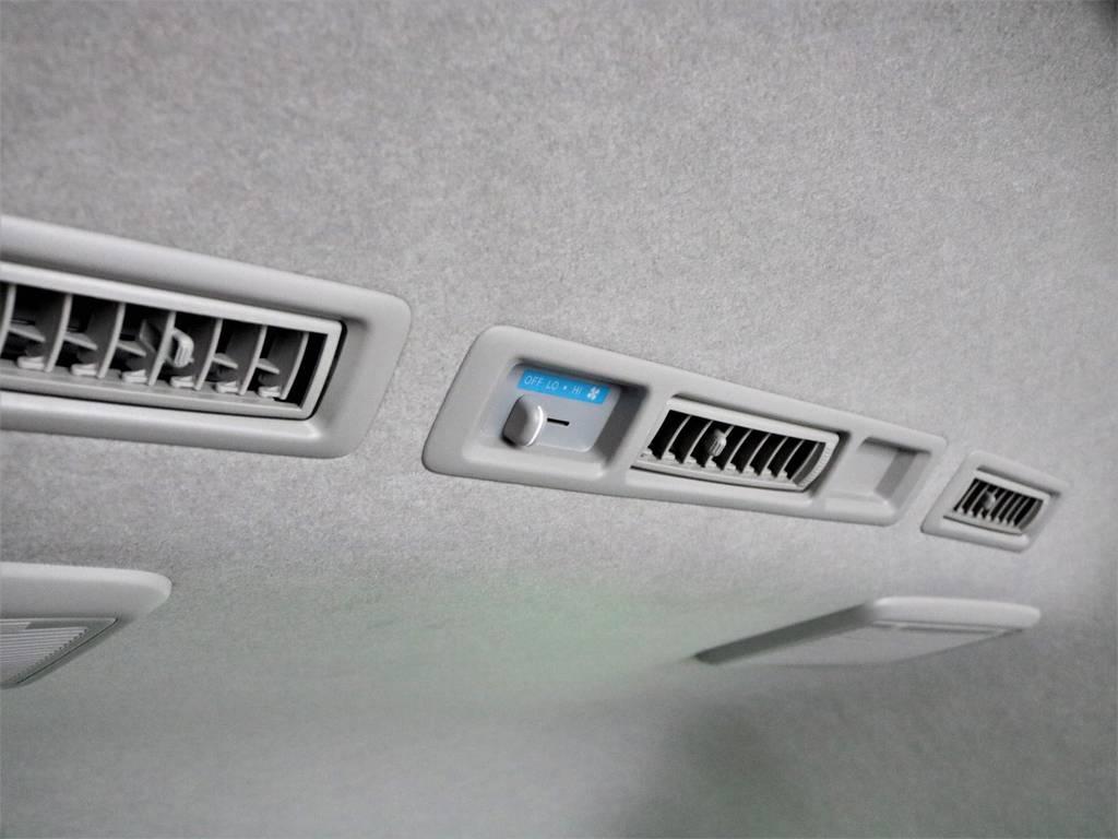 メーカーオプションのリアヒーターにリアクーラーも完備しております! | トヨタ ハイエースバン 2.8 DX ワイド スーパーロング ハイルーフ GLパッケージ ディーゼルターボ 4WD フロアー施工&トリムレザーPKG