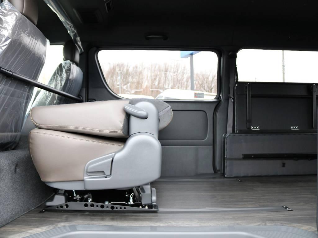 床張りされているので汚れや水も気にせずたくさんの荷物を積み込めます!   トヨタ ハイエースバン 2.7 スーパーGL 50THアニバーサリー リミテッド ワイド ミドルルーフ ロングボディ4WD FU-Wスライドシート