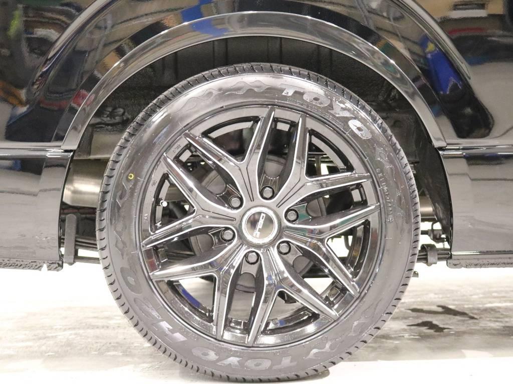 Delf 01 18inブラックミーリング!ボディーカラ-の特設ブラックと相性バッチリです!