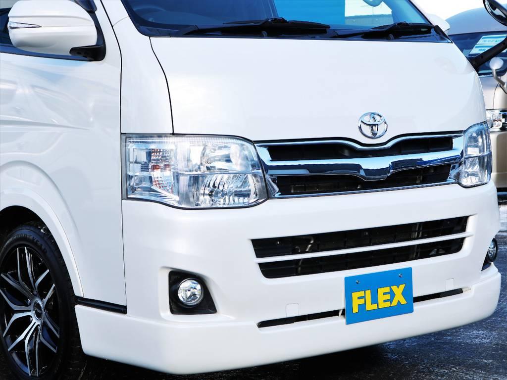FLEXオリジナルフロントリップスポイラー! | トヨタ ハイエースバン 3.0 スーパーGL ロング ディーゼルターボ 4WD