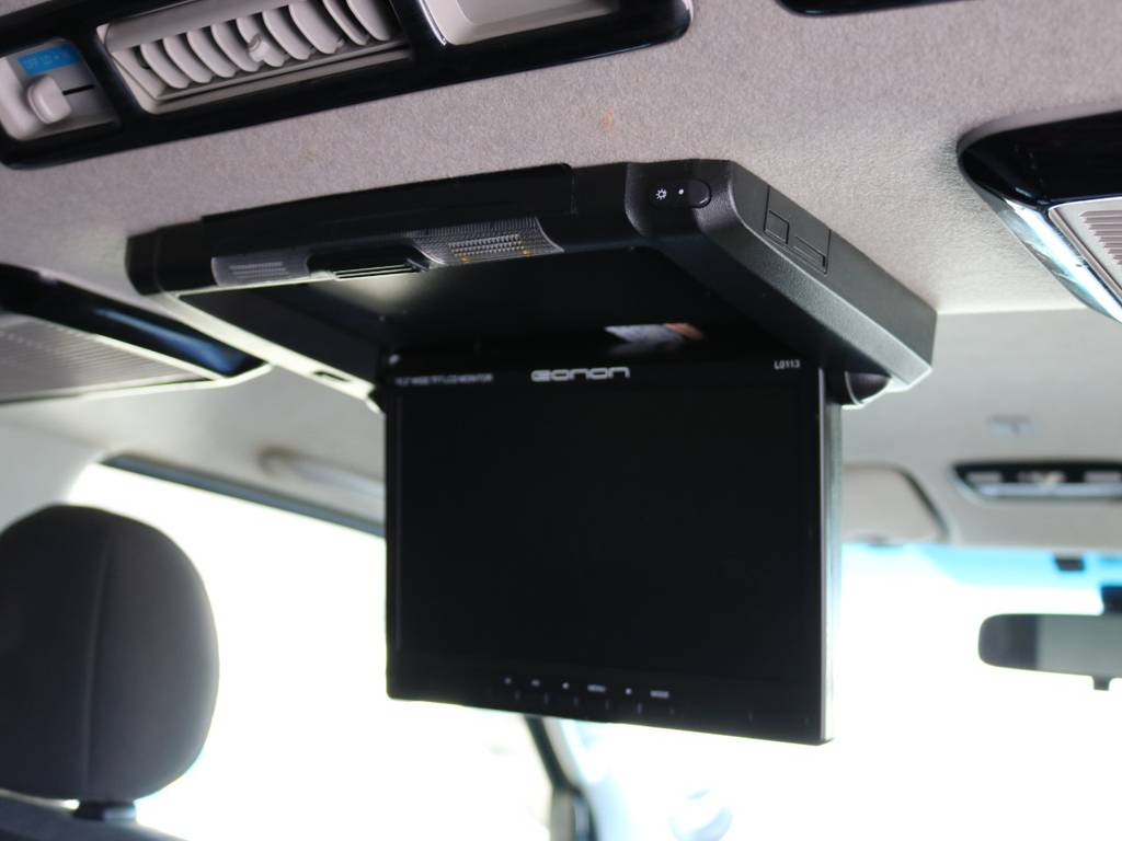 eanonフリップダウンモニター! | トヨタ ハイエースバン 3.0 スーパーGL ロング ディーゼルターボ 4WD