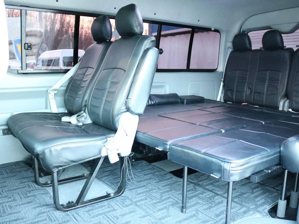 ハイエース 2型 ワゴン 折畳式ベッドキット | トヨタ ハイエース 2.7 GL ロング ミドルルーフ 4WD 内装架装車輌