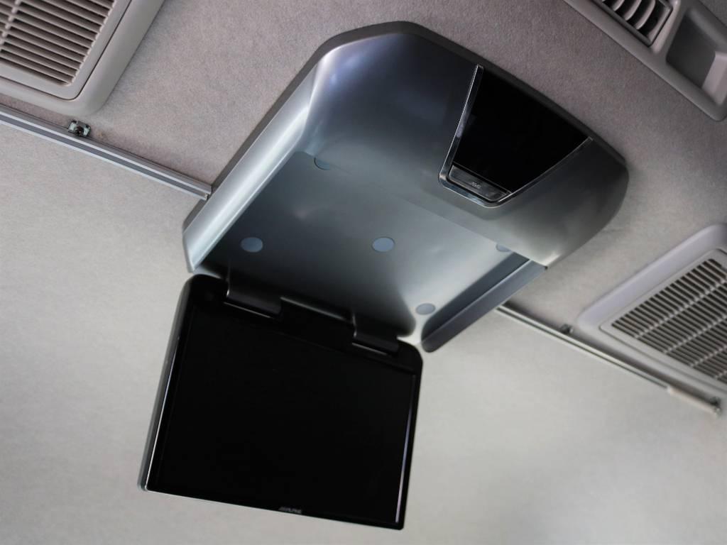 ALPINEフリップダウンモニター装着! | トヨタ ハイエース 2.7 グランドキャビン 4WD